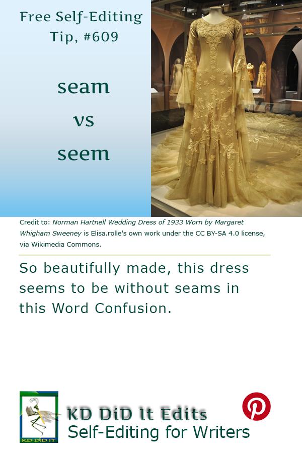 Word Confusion: Seam versus Seem