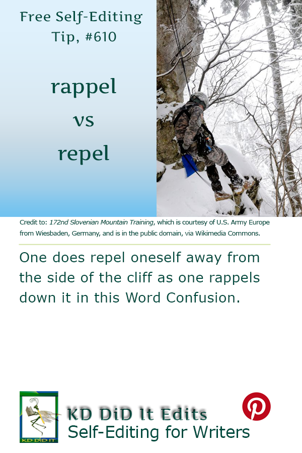 Pinterest pin for Rappel versus Repel