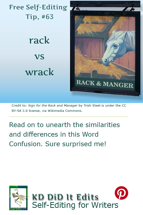 Pinterest pin for Rack versus Wrack