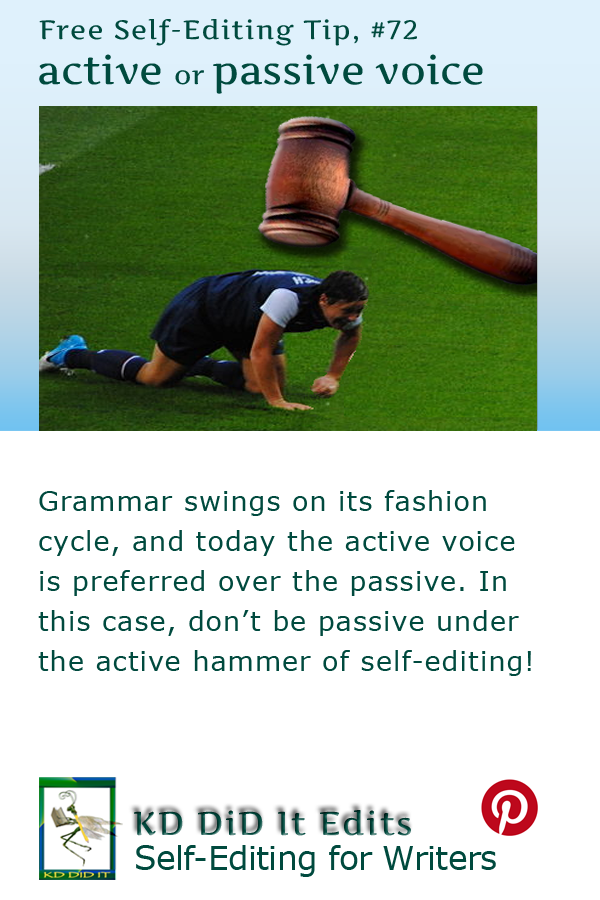Pinterest pin for Active versus Passive Voice