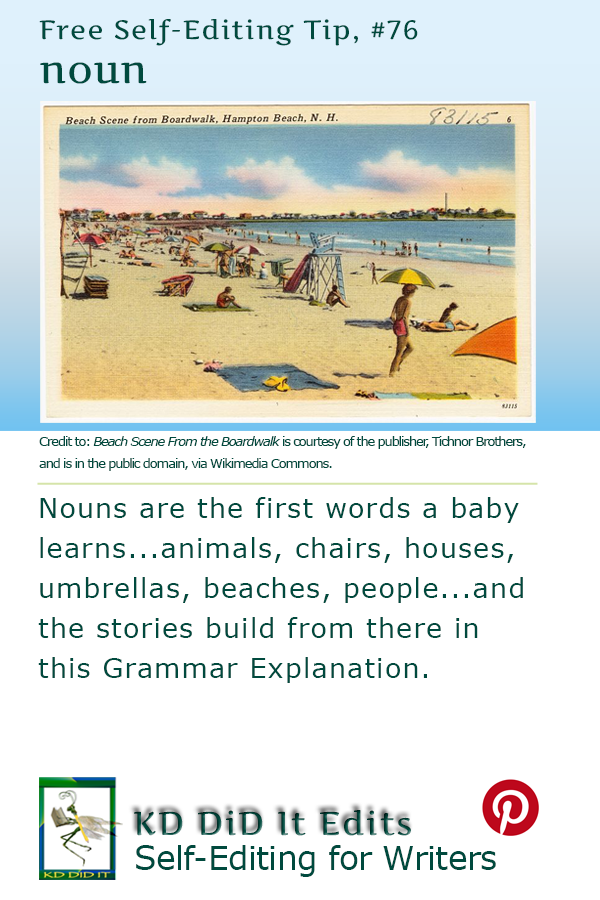 Pinterest pin for noun