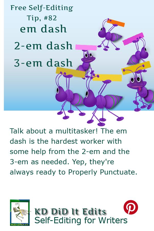 Pinterest pin for Em, 2-Em, & 3-Em Dashes