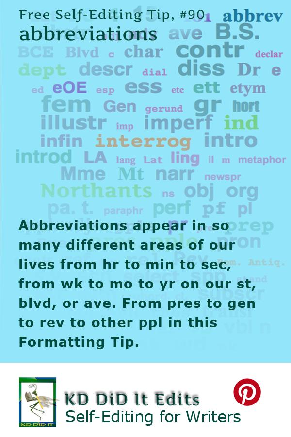 Formatting Tip: Abbreviations