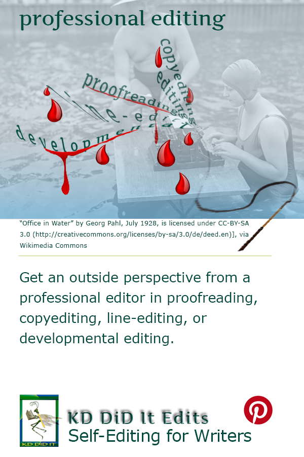 Pinterest pin for Editing with Kathy Davie