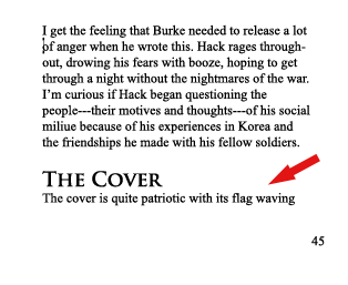 Example of an orphan line