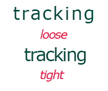 loose and tight example of a word