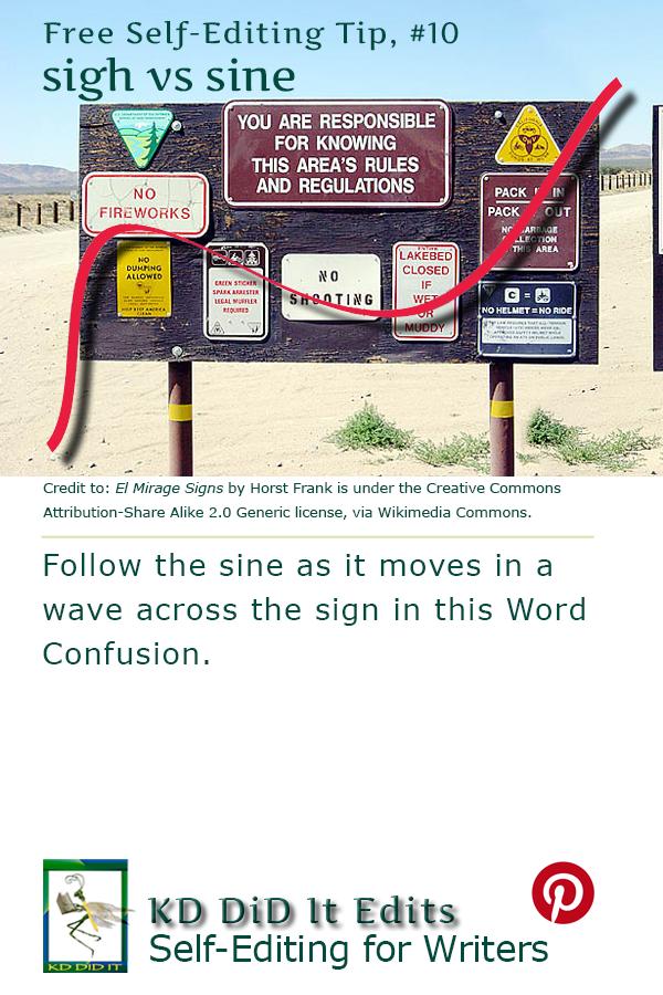 Pinterest pin for Sign versus Sine