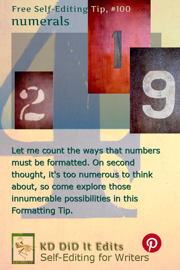 Pinterest pin for Numerals
