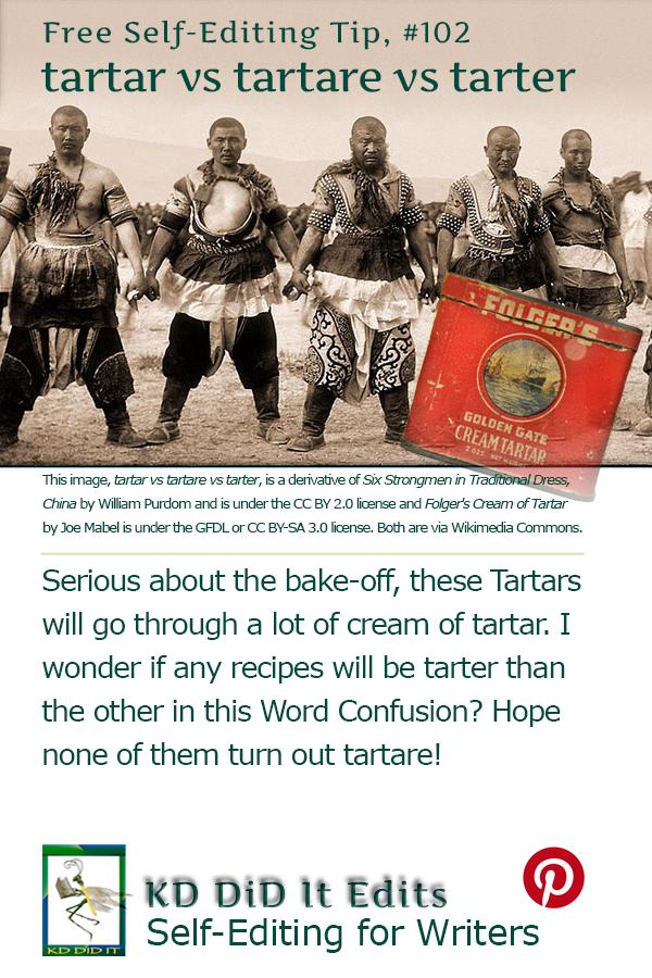 Pinterest pin for Tartar vs Tartare vs Tarter