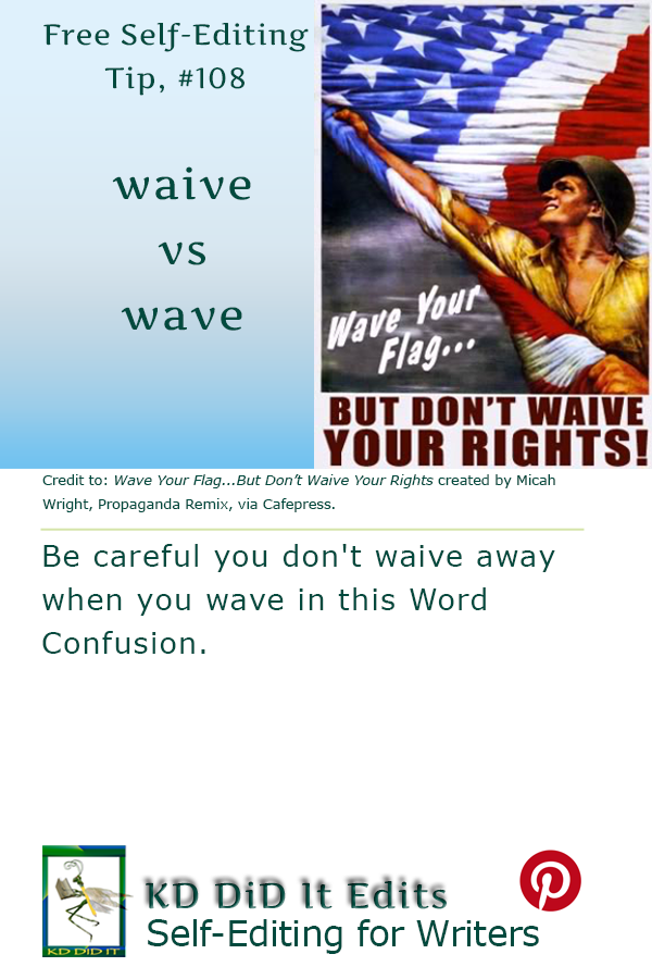 Pinterest pin for Waive versus Wave