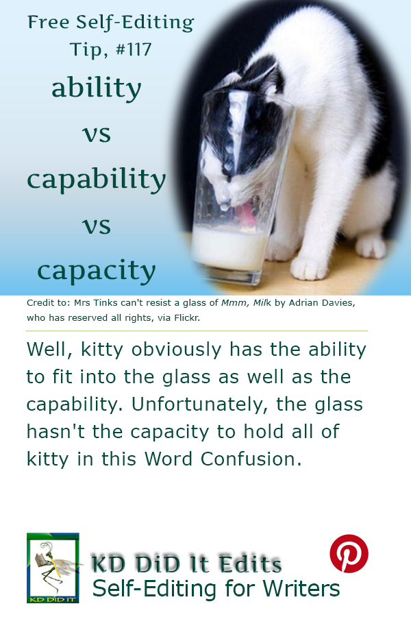 Pinterest pin for Ability vs Capability vs Capacity