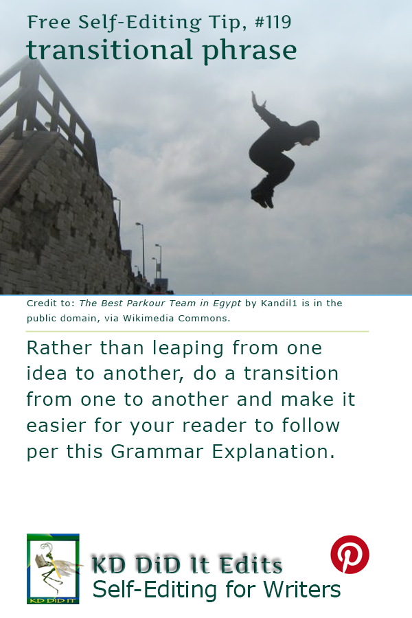 Grammar: Transitional Words and Phrases
