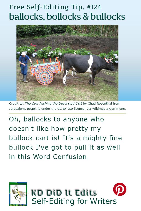 Pinterest pin for Ballocks or Bollocks vs Bullocks