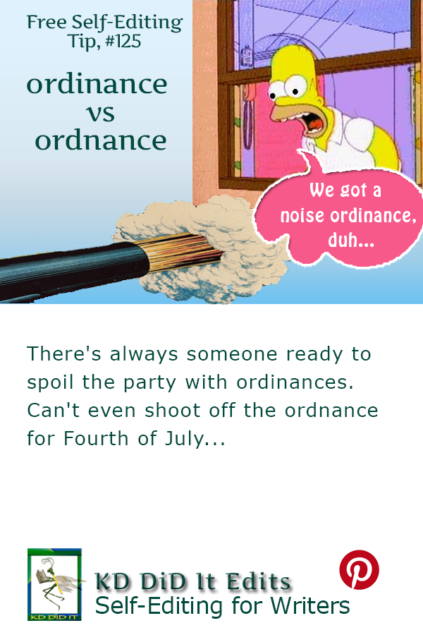 Word Confusion: Ordinance versus Ordnance