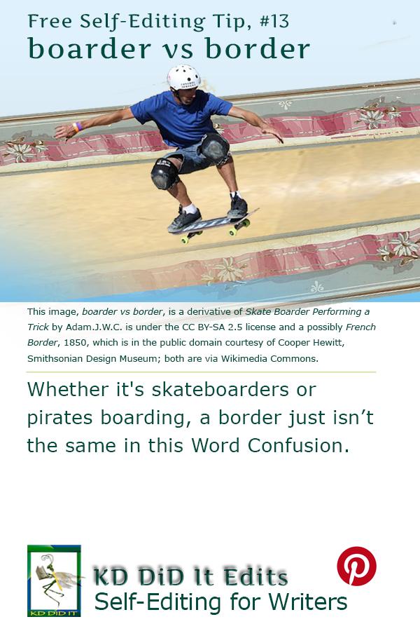 Pinterest pin for Boarder vs Border