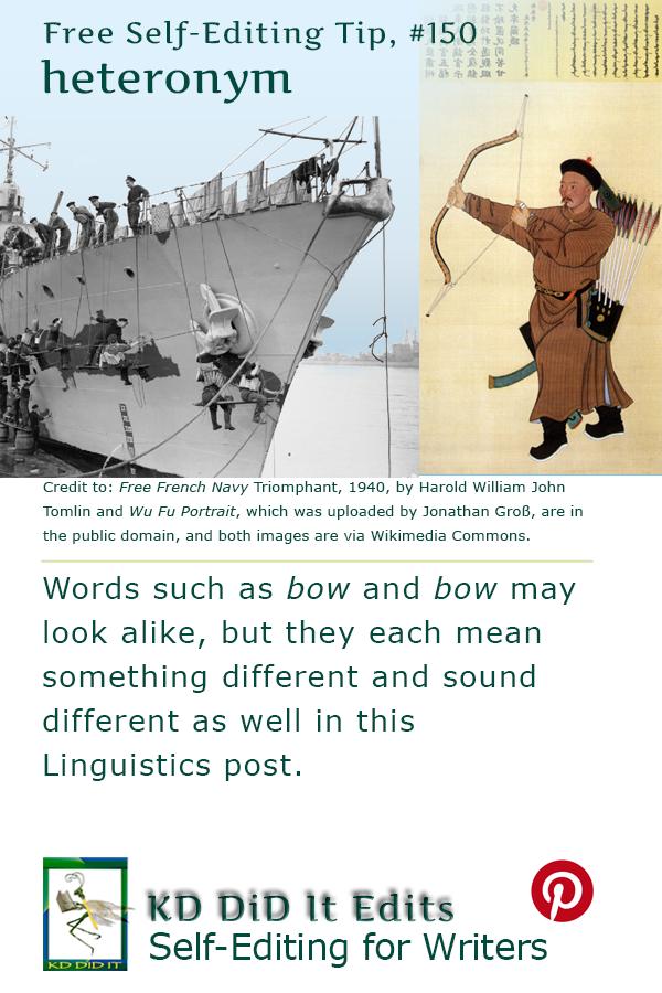 Grammar & Word Confusions: Heteronym