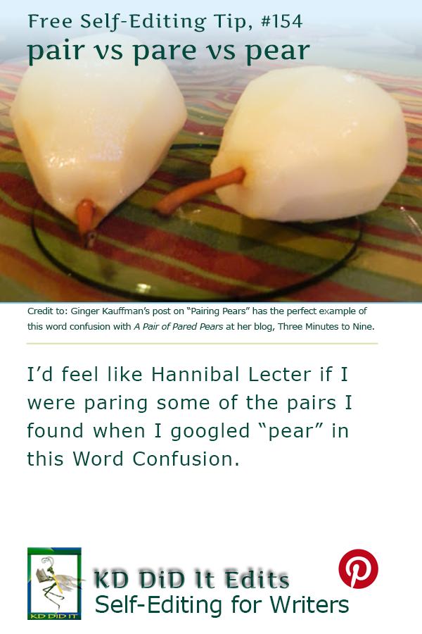 Pinterest pin for Pair vs Pare vs Pear