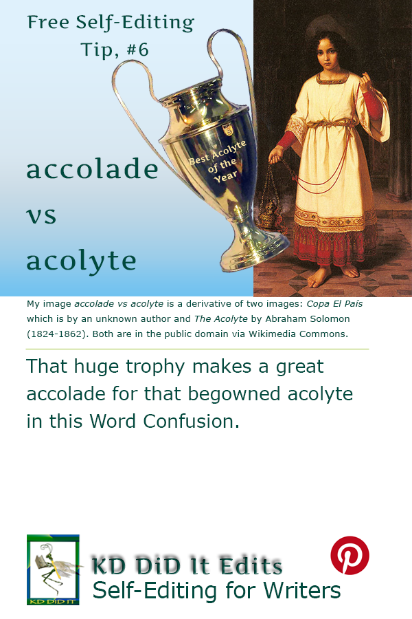 Pinterest pin for Accolade versus Acolyte
