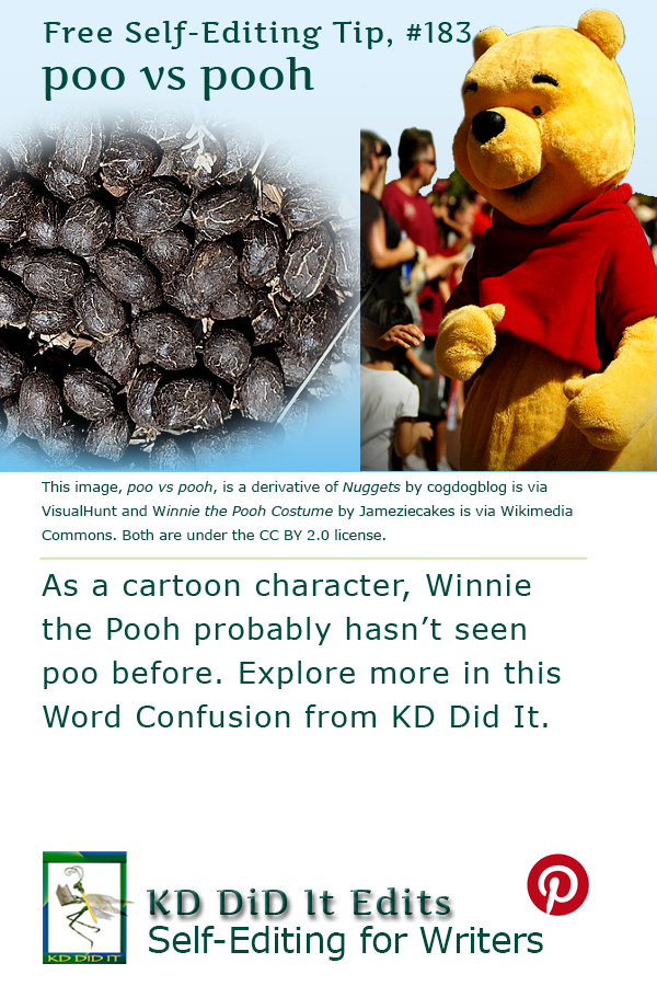 Pinterest pin for Poo versus Pooh