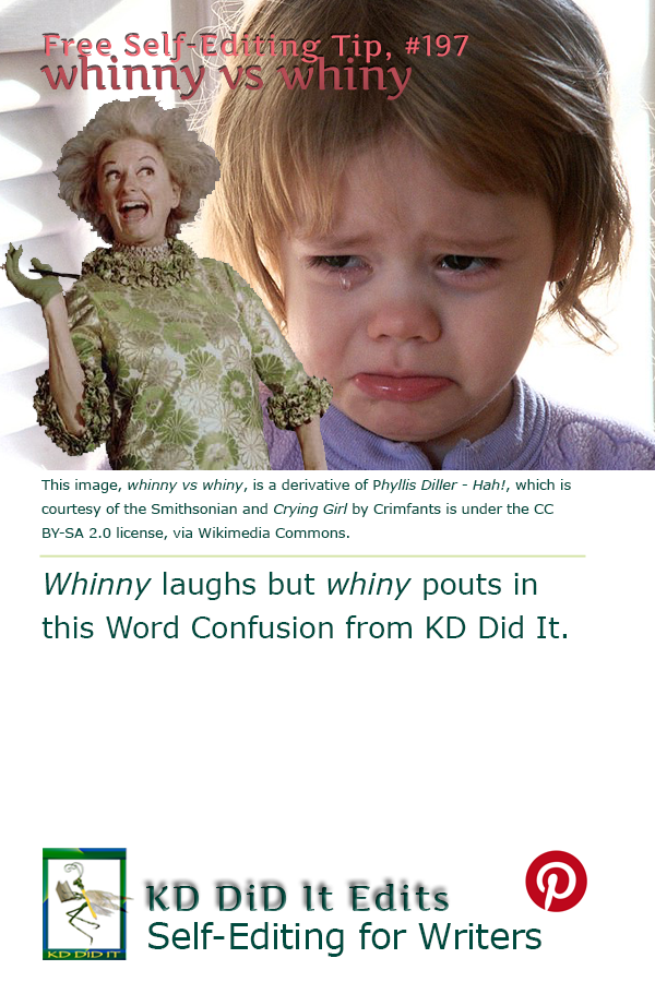 Pinterest pin for Whinny versus Whiny