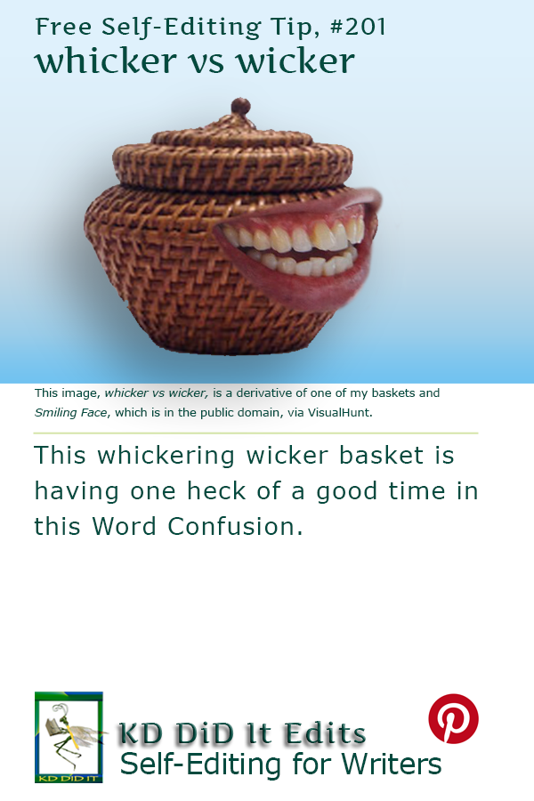 Pinterest pin for Whicker versus Wicker