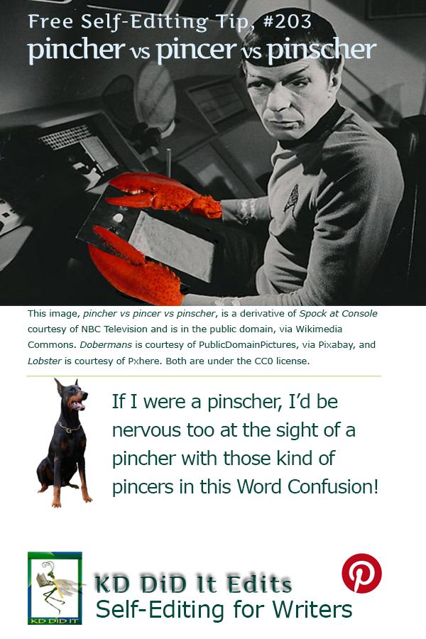 Pinterest pin for  Pincher vs Pincer vs Pinscher