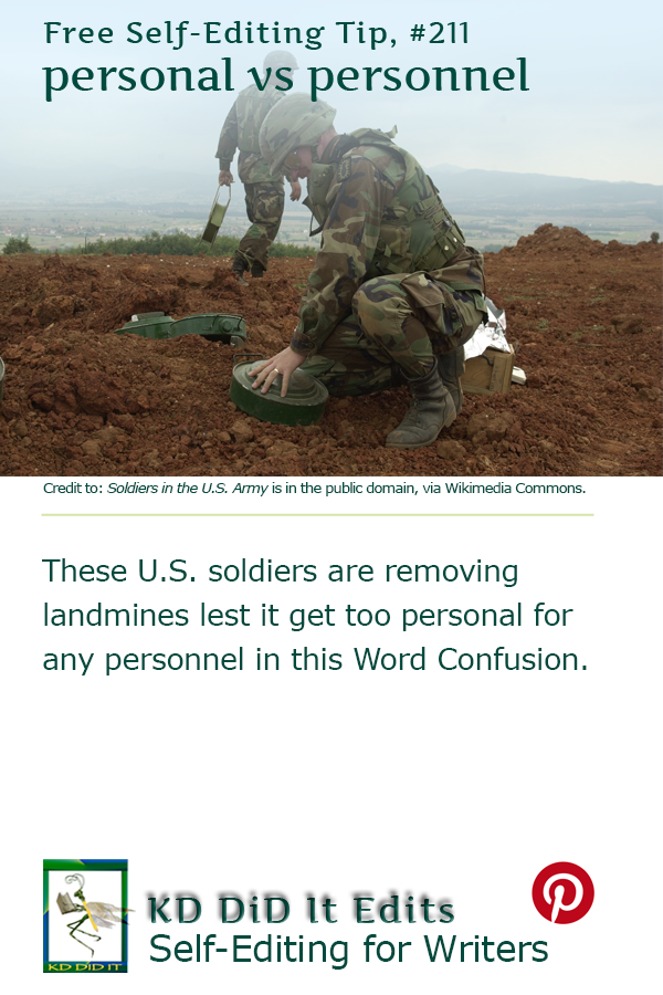 Word Confusion: Personal versus Personnel