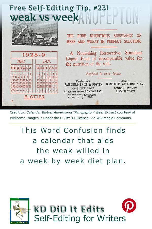 Pinterest pin for Weak versus Week