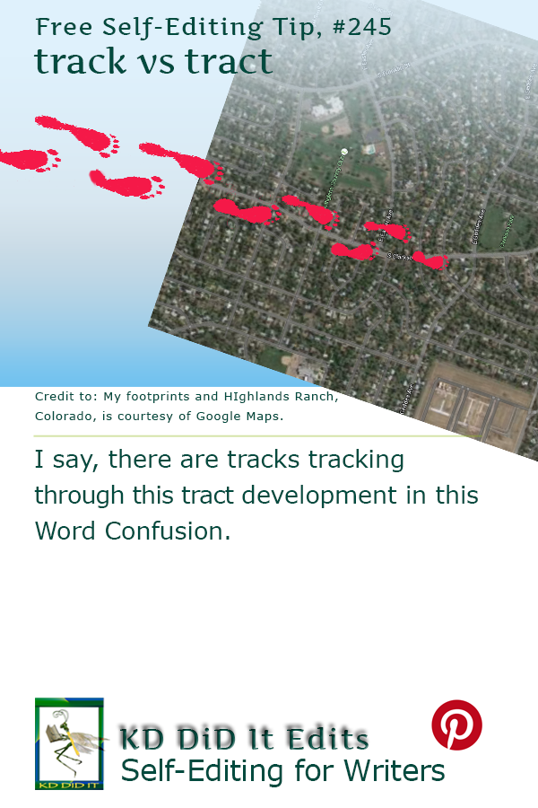 Pinterest pin for Track vs Tract