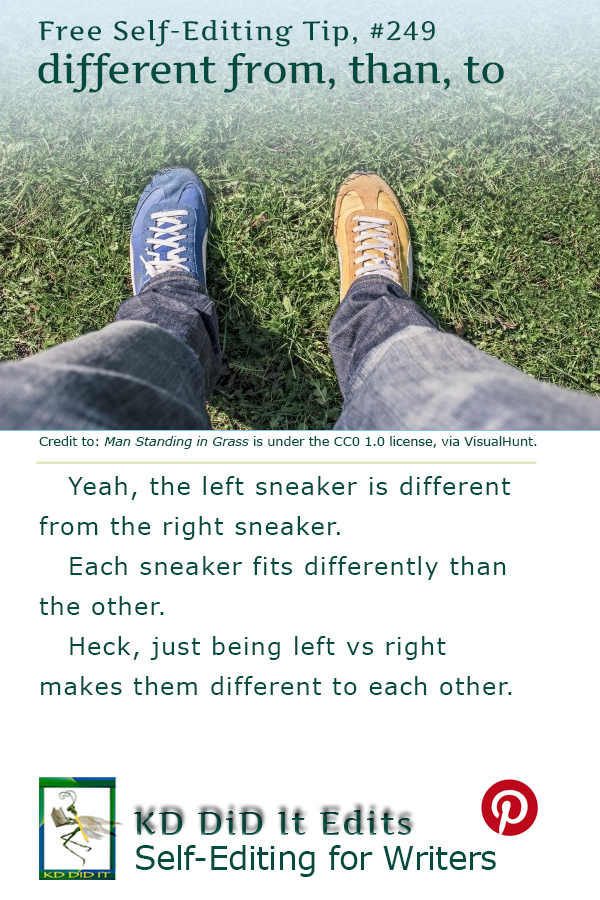 Word Confusion: Different From vs Different Than vs Different To