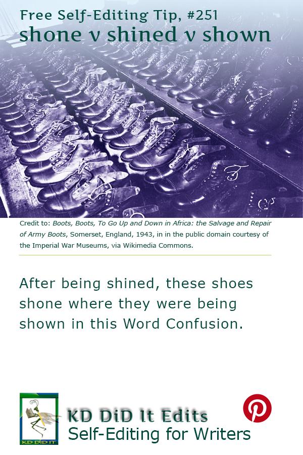 Pinterest pin for Shone vs Shined vs Shown