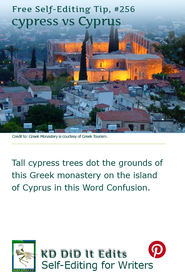 Pinterest pin for Cypress versus Cyprus