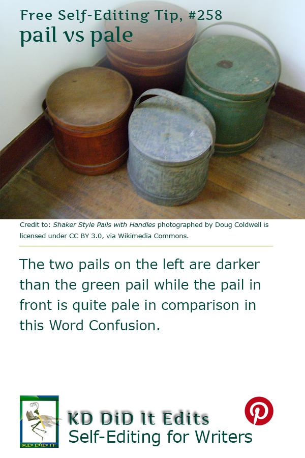 Word Confusion: Pail versus Pale