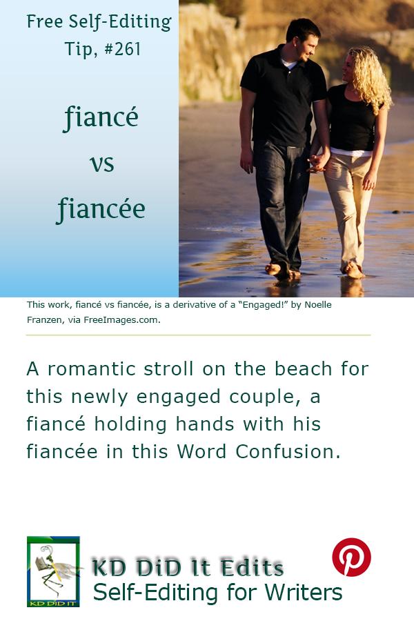 Pinterest pin for Fiancé vs Fiancée