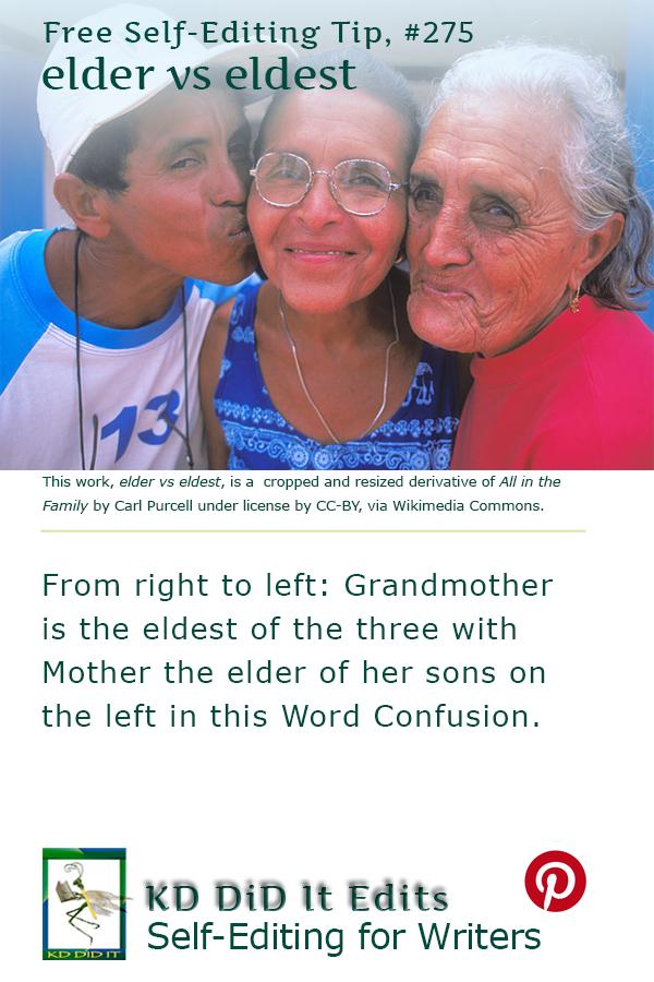 Word Confusion: Elder versus Eldest