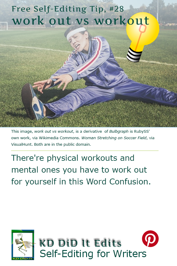Word Confusion: Work Out versus Workout