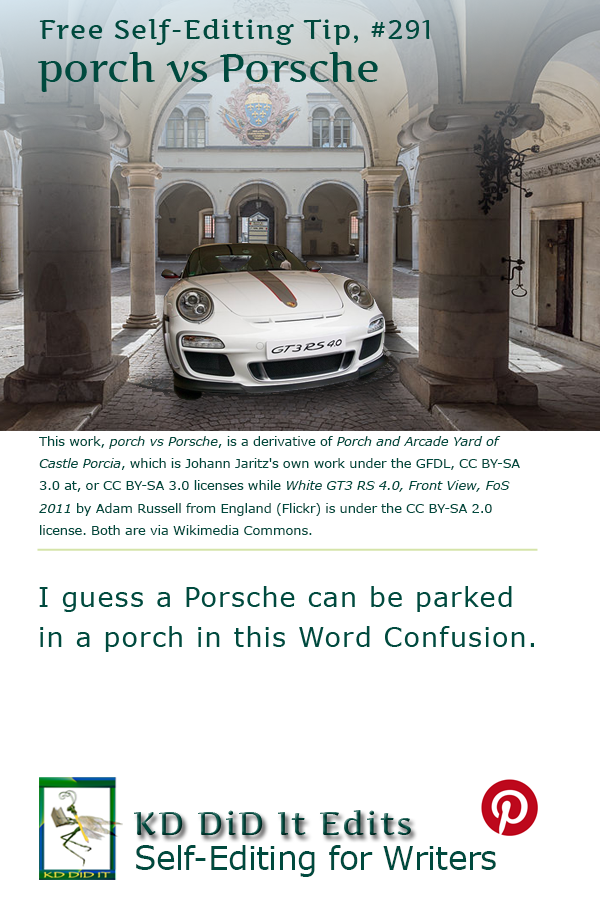 Pinterest pin for Porch versus Porsche