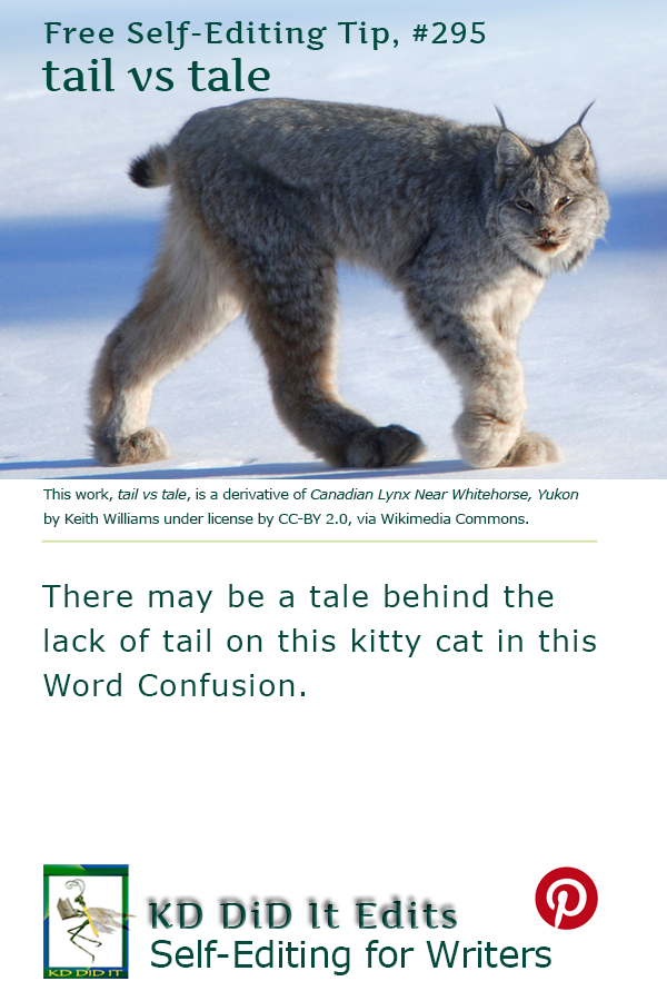 Pinterest pin for Tail versus Tale