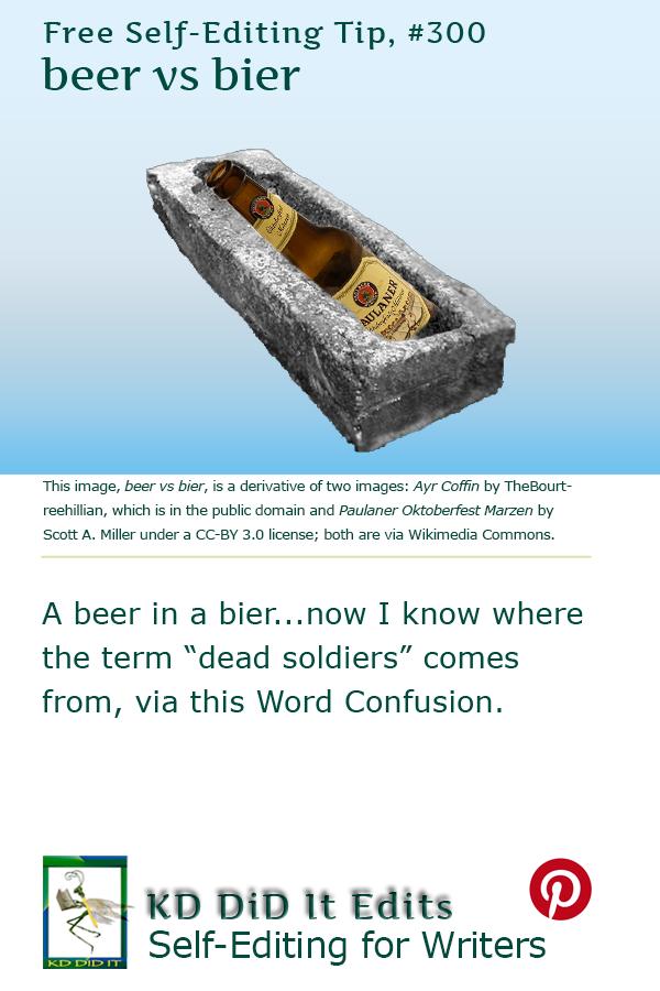 Pinterest pin for Beer versus Bier