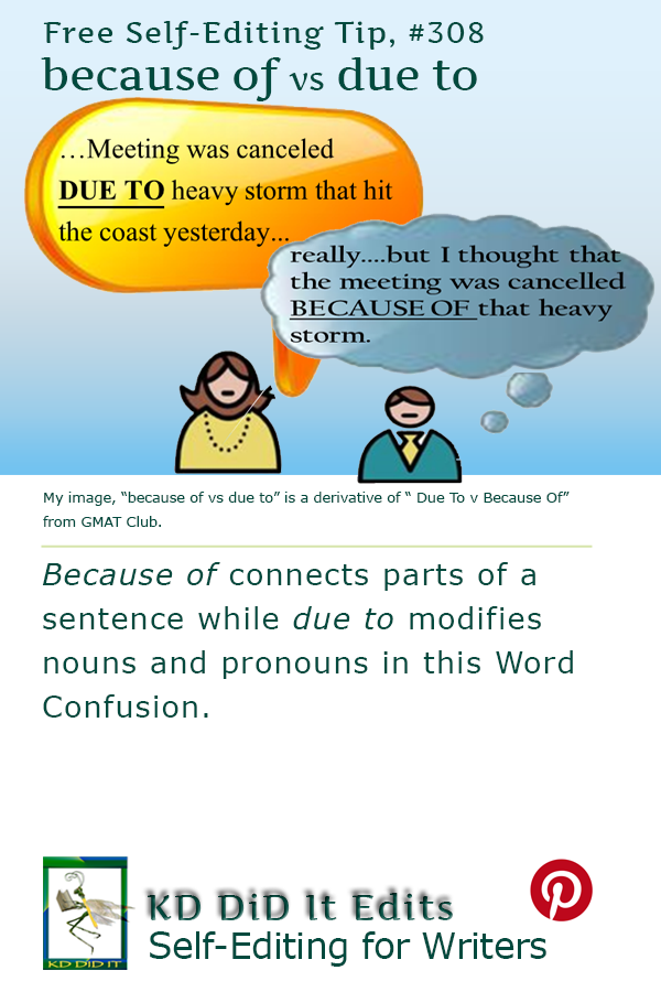 Word Confusion: Because Of versus Due To