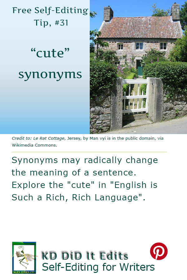 Pinterest pin for Cute Word Choices