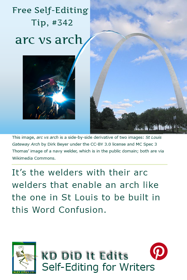 Pinterest pin for Arc versus Arch