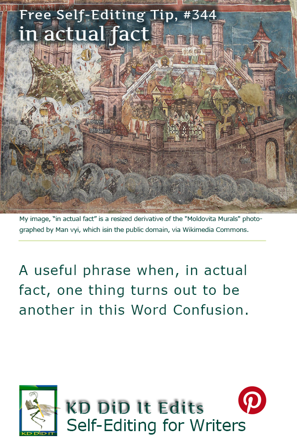 Word Confusion: In Actual Fact