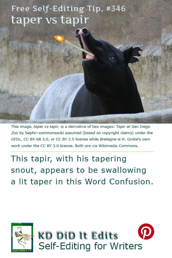 Word Confusion: Taper versus Tapir