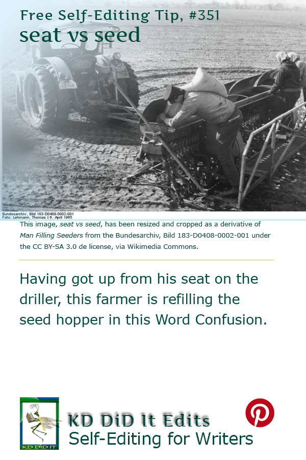 Word Confusion: Seat versus Seed