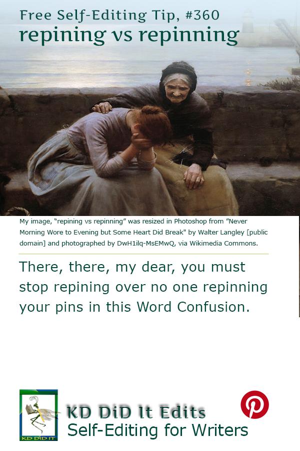 Pinterest pin for Repining versus Repinning