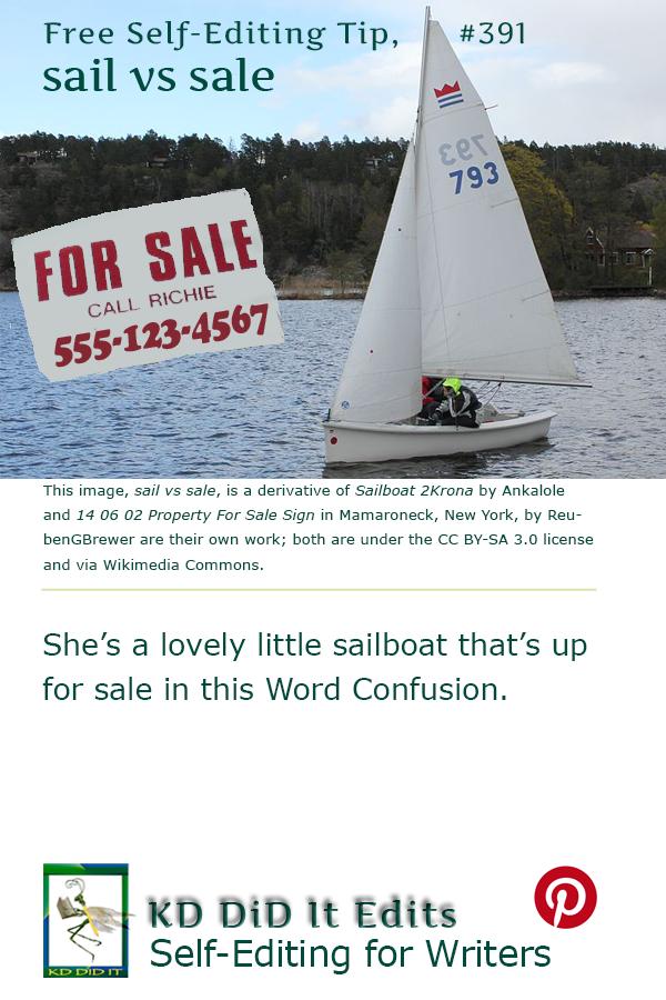Word Confusion: Sail versus Sale
