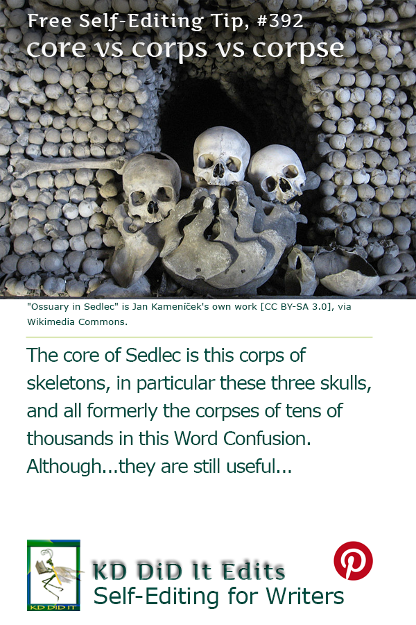 Word Confusion: Core vs Corps vs Corpse