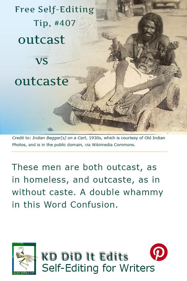 Pinterest pin for Outcast versus Outcaste