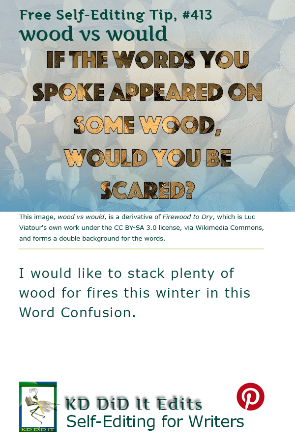 Pinterest pin for Wood versus Would